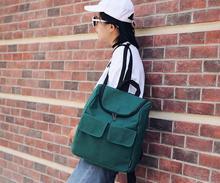 Японский Стиль Harajuku Стиль холст женщины рюкзак новинка конфеты Цвета ведро школьный для студентов мило Maiden рюкзак