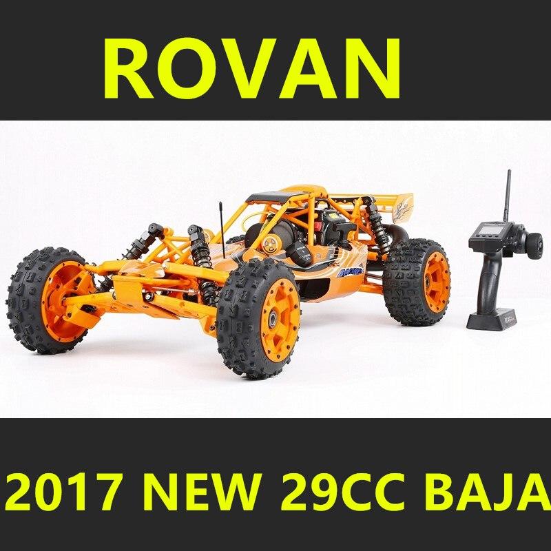 2017 New Style Upgraded Rovan 1/5 Scale Gasoline RC BAJA High-strength Nylon Frame 29CC Engine Warbro668 Symmetrical Steering rovan 1 5 scale 26cc gas powered engine racing baja 5b rc car truck