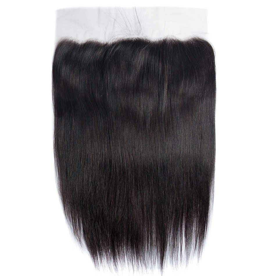 Virgo Rambut Telinga Ke Telinga 13X6 Renda Frontal Penutupan dengan Dalam Bagian 8-18 Inch Lurus Brasil remy Rambut Manusia Frontal Digunakan Dipetik