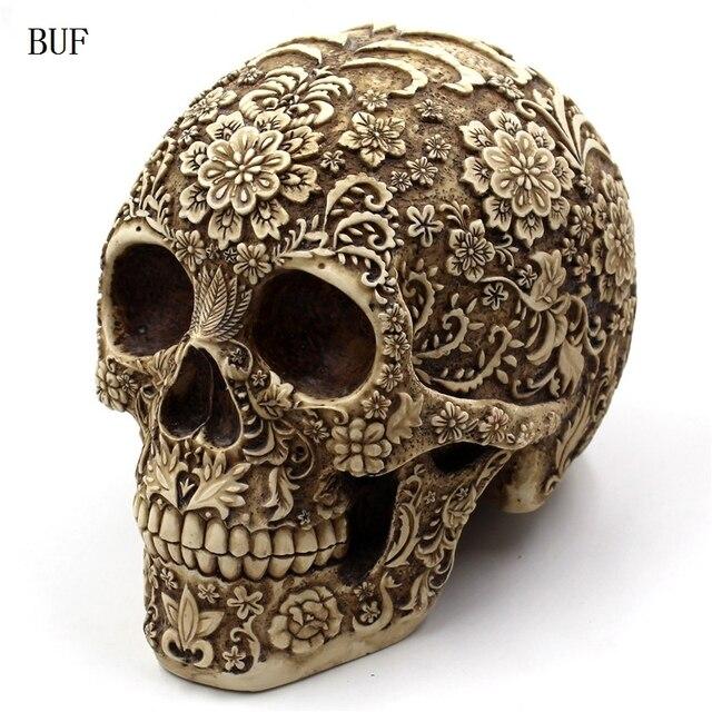 BUF Resin Craft Halloween Decoration Skull Statues Creative Bar Decoration  Skull Statue Sculpture. Aliexpress com   Buy BUF Resin Craft Halloween Decoration Skull