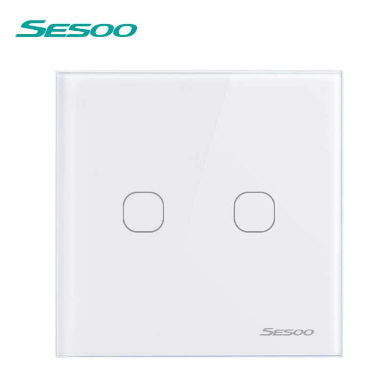 SESOO Fernbedienung Schalter 2 Gang 1 Weg Smart Home Für RF433 Touch ...