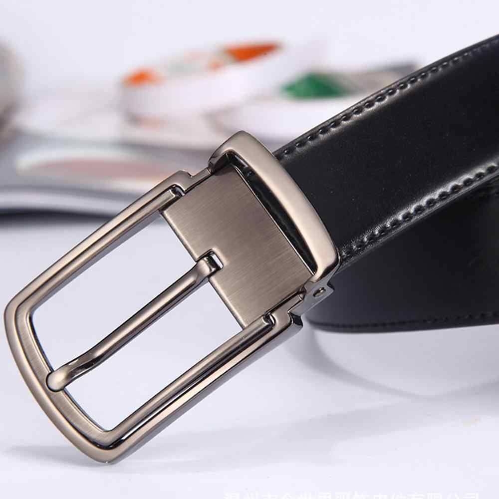 FAJARINA Fashion Quality Double-side-use Black Genuine Leather Belts for Men Cowhide Pin Buckle Fancy Vintage Jeans N17FJ572