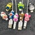 Protetor dos desenhos animados para o cabo iphone cabo saver tampa para o cabo iphone 6 luva protetora para iphone 7 case