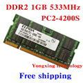Lifetime warranty For Elpida DDR2 1GB 533MHz PC2-4200 Original authentic 1G notebook memory Laptop RAM 200PIN SODIMM