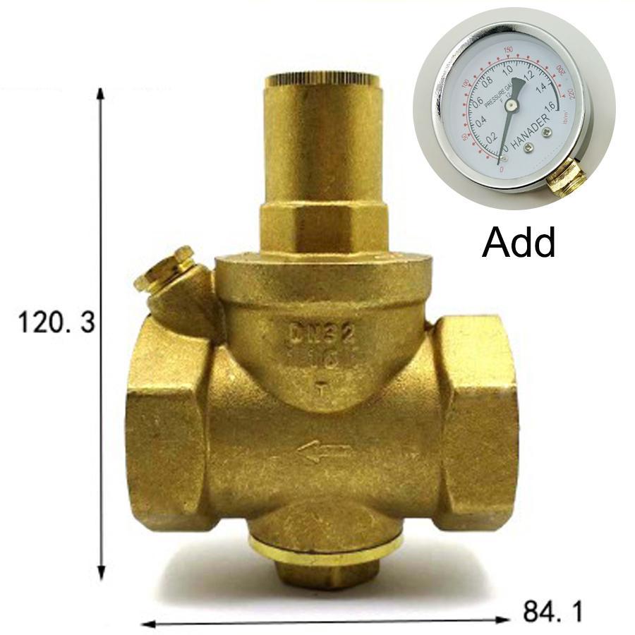 Kompetent Dn32 1-1/4 bspp Weibliche Messing Druck Relief Vavle Sicherheit Einstellbare Big-körper Breite 84,1mm Max 16bar Mit Manometer Ventil