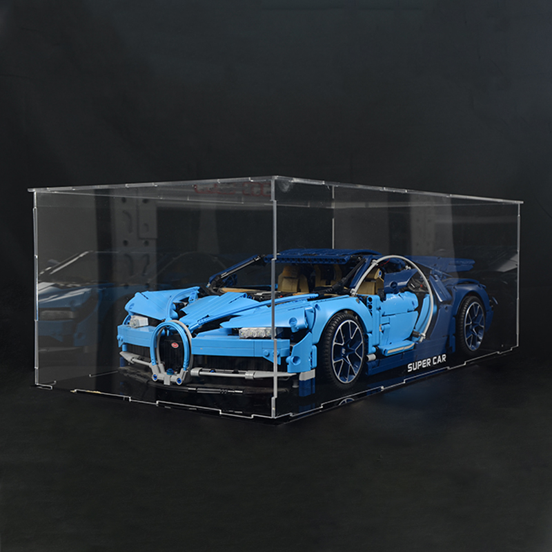 Deluxe Hardwood /& Clear Acrylic Display Case for LEGO Mustang