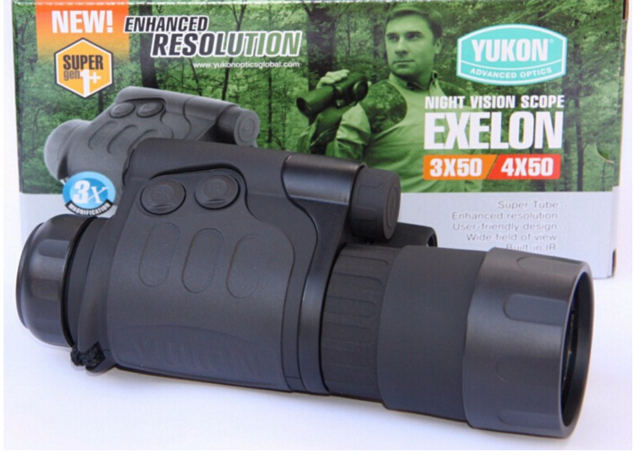 Original YUKON 24101 infrared night vision scope Exelon scope 3x50 hunting Night vision IPX4 monocular night vision 3x original yukon 26016t nvrs sentinel 3x60 night vision scope for hunting night vision goggles infrared goggles