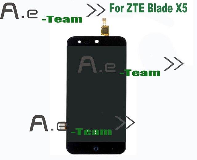 100% Новый Для ZTE Blade X5 ЖК-Экран Замена Аксессуары ЖК-Дисплей + Сенсорный Экран Для ZTE Blade X5 Смартфон