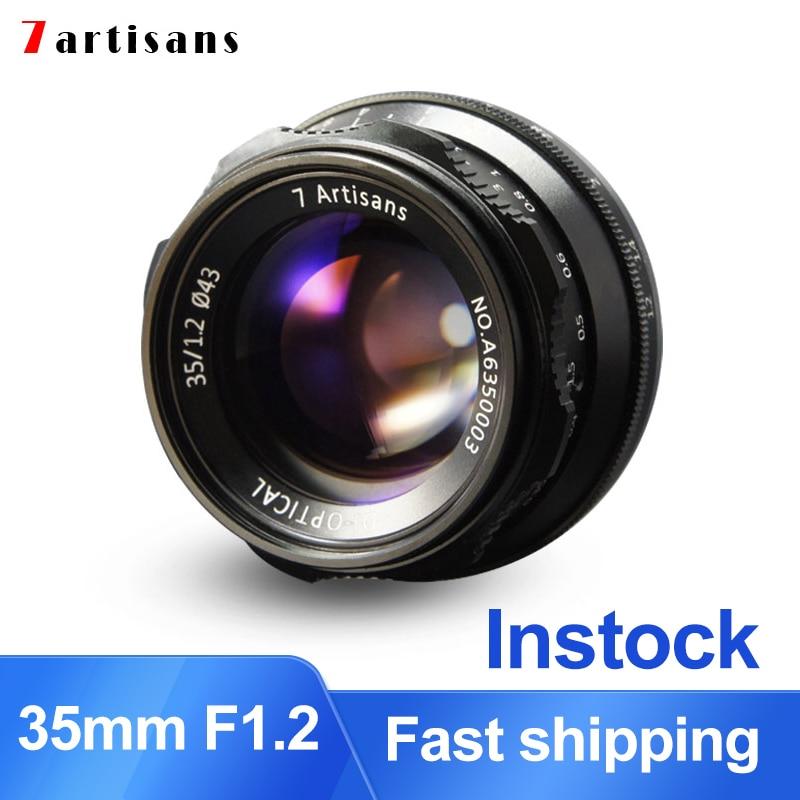 7artisans 35mm F1 2 Prime Lens for Sony E mount for Fuji XF APS C Camera