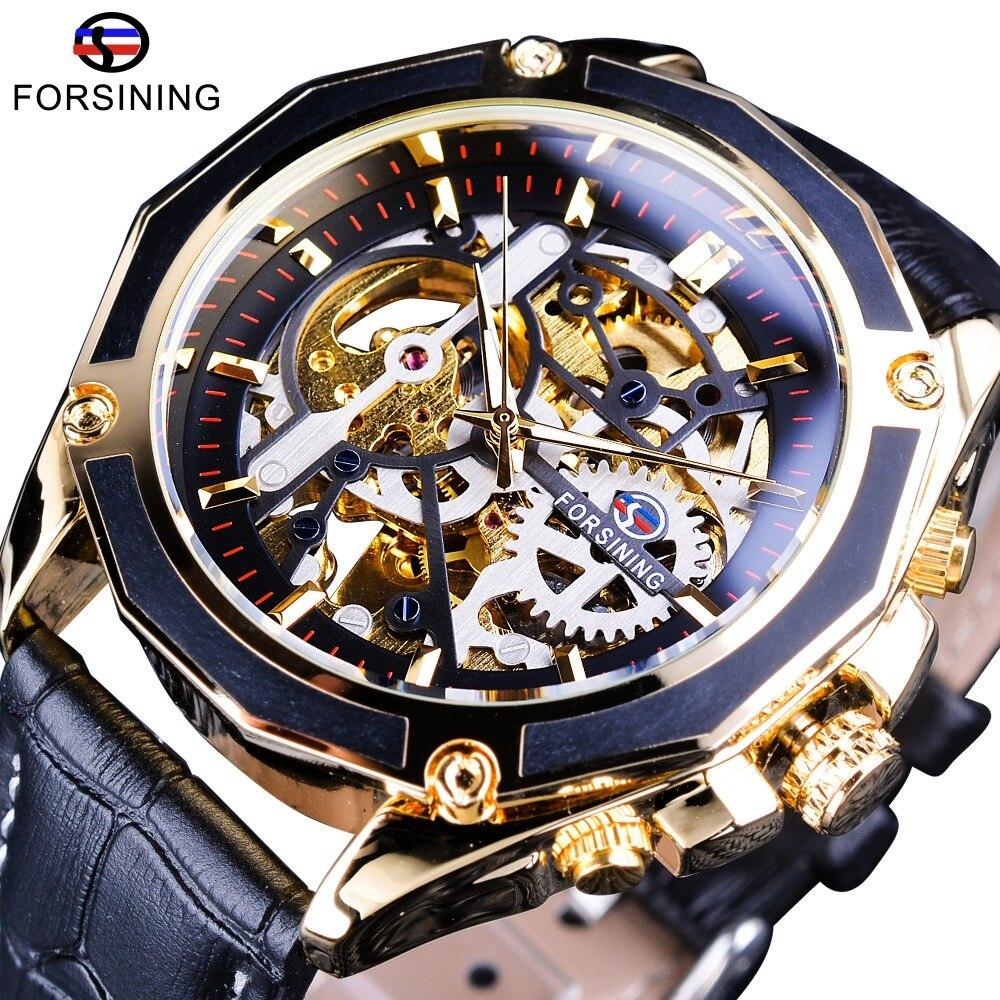 Série De Transparent Automatique Horloge À Travail Boîtier Montres Forsining Squelette Top Remontage Luxe Homme Marque Ouvert VSqUzpMG