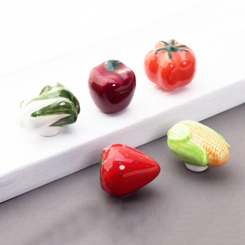 MEGAIRON Obst & Gemüse Schrank Knöpfe Keramik Schublade Griffe Küche ...