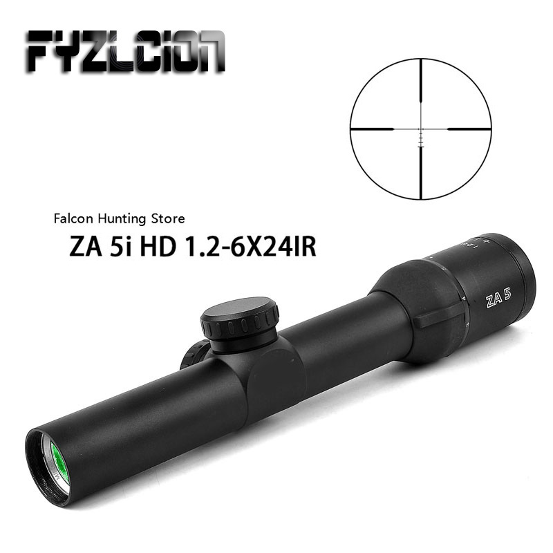 outdoor Hunting optical sight 1.2-6X24 IR Compact Rifle Scope Glass Etched Illuminated Reticle Long Eye Relief Sight RifleScopes цена