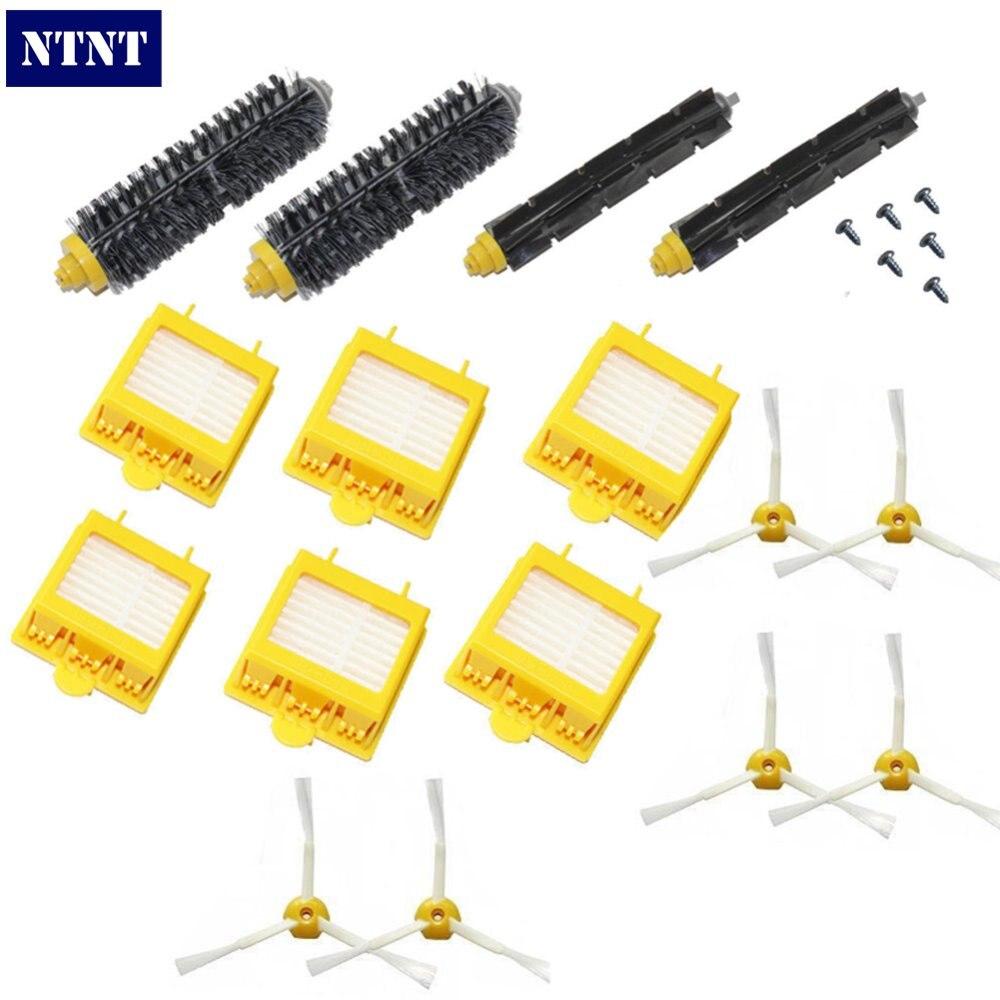 NTNT Free Post New Filters Brush 3-armed Side screws Kit For iRobot Roomba 700 Series 760 770 780 ntnt free post new 50x side brush 3 armed for irobot roomba 500 600 700 series 550 560 630 650 760