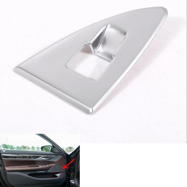 Car Interior Rear Tail Door Adjust Switch Cover Frame Trim Sticker