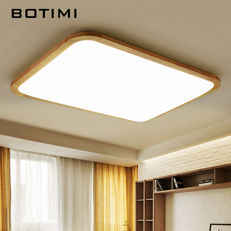 BOTIMI Modern LED Wooden Ceiling Lights For Living Room Foyer Lamparas de techo Japan Lighting Fixtures For Bedroom Kitchen 2017 acrylic modern led ceiling lights fixtures for living room lamparas de techo simplicity ceiling lamp home decoration
