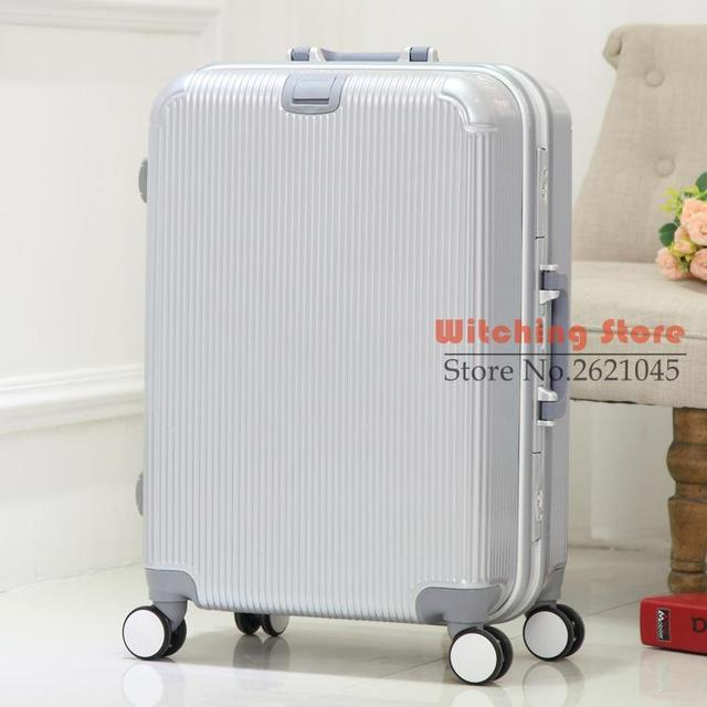 28 INCH 202428# r genuine PC high-grade aluminum frame boarding luggage universal wheel box #EC FREE SHIPPING