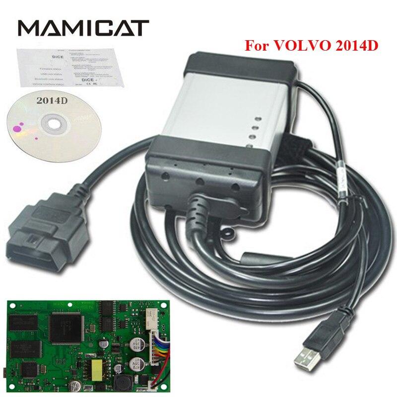 Grün PCB Volle Chip Für Volvo Vida Würfel 2014D Auto Diagnosewerkzeug Vida Dice Pro Firmware Update Multi Sprachen Freies verschiffen