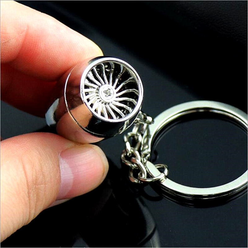 Hot Selling Diy Handmade Keychain Aeroengine Keyring Stainless Steel Metal Accessory Airplane Aircraft Model Brelok Car Pendant
