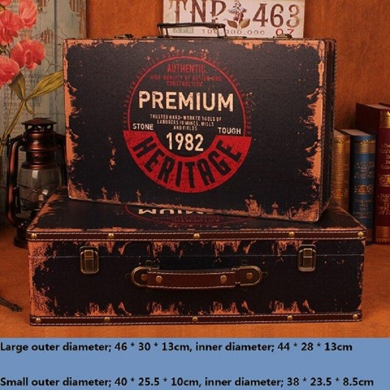 2 pièces/ensemble boîte de rangement maquillage organisateur valise rétro boîte en bois rangement Caixa organisadora Cajas organisadoras Joyeria