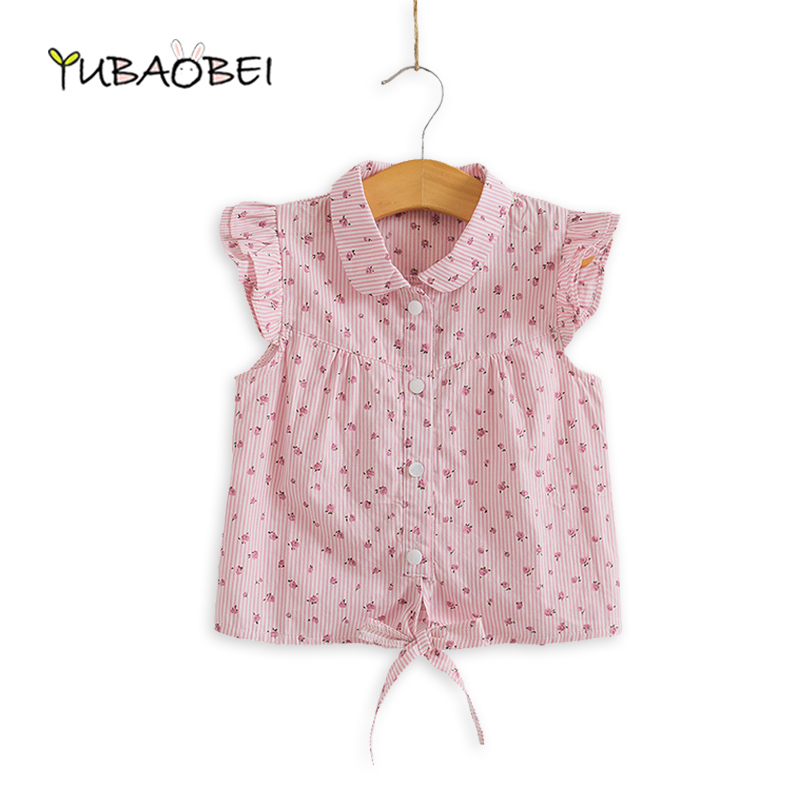 Hot New Spring Summer Baby Girl Blouses Kids Shirts Fantasy Children Shirt Casual Floral Bomull Kläder Barnkläder Slitage