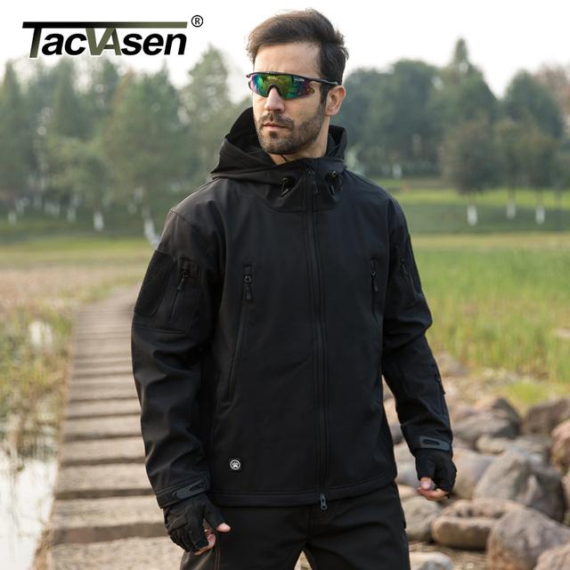 TACVASEN Army Camouflage Men Coat  Military Tactical Jackets Men Waterproof Windbreaker Raincoat Hunt Clothes TD-YCIDL-002-1