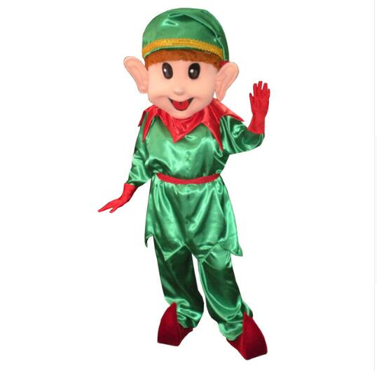Adult Lovely Christmas Elf Mascot Evening Costumes for Halloween Evening Events