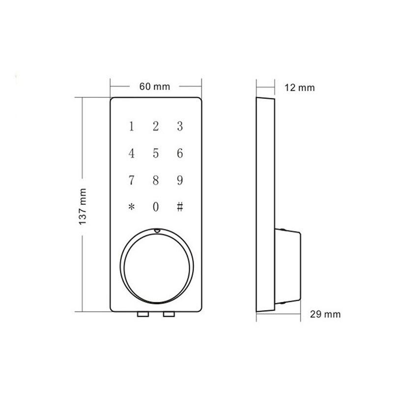 Купить с кэшбэком LACHCO Bluetooth Lock Smart Electronic Door Lock APP, Code, Deadbolt For Home, Hotel ,Apartment L16076BSAP