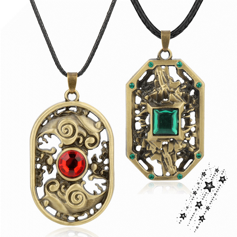 Hot Online Game Dota2 Earth Spirit Logo Hollow-out Pendants Necklace Man Woman Accessories