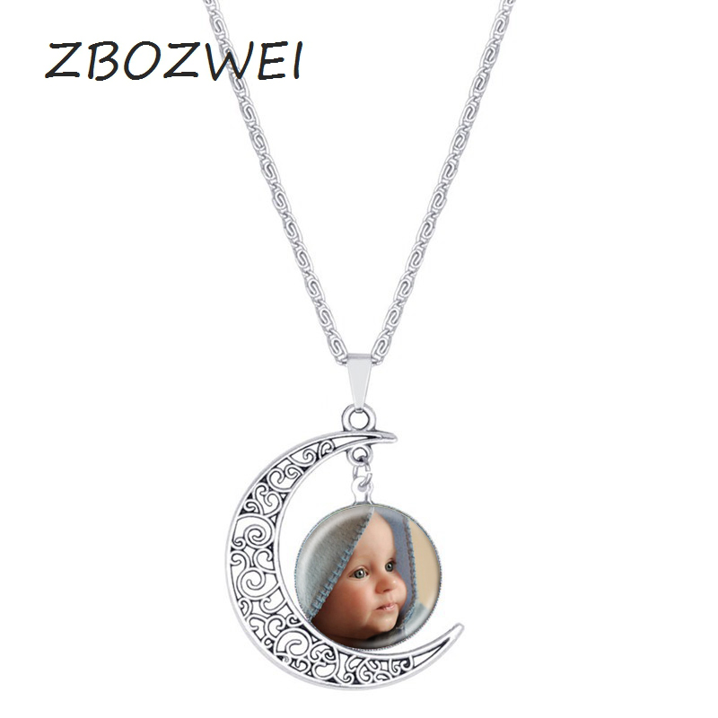 ZBOZWEI Movie jewelry silver Moon necklace vintage Cool style snow cartoon Elsa queen Anna princess pendant necklace Gift women
