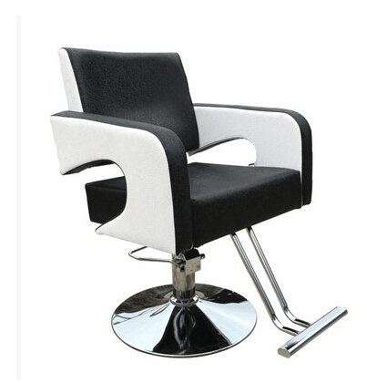 Barber's Hair Cut Chair. Hair Salons Fashion Beauty-care Chair Black And White