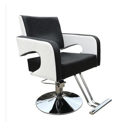 Barber's Hair Cut Chair. Hair Salons Fashion Beauty-care Chair Black And White