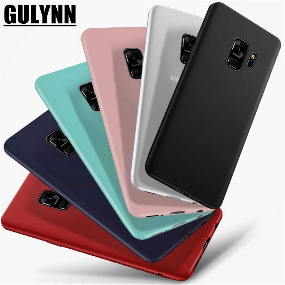 GULYNN чехол ТПУ карамельного цвета силиконовый чехол для Samsung Galaxy A3 A5 A7 A6 A8 J3 J4 J5 J7 J8 ЕС S8 S9 Prime Plus 2017 2018 крышка