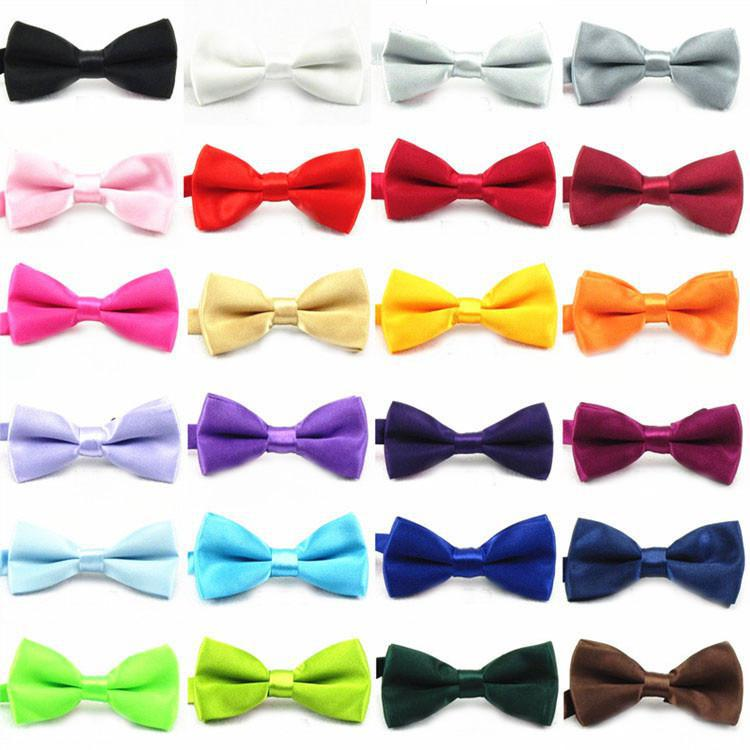 100pcs Children Kids Boys Toddler Infant Solid Bowtie Pre Tied Wedding Baby Boy Bow Tie Bow Tie Silk Tie Black And White Necktie