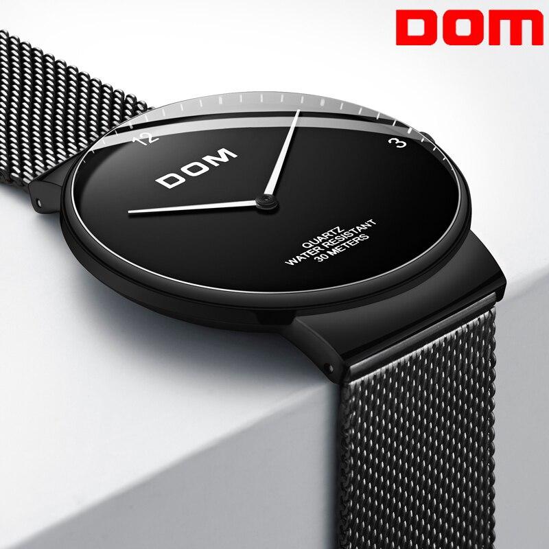 Relogio masculino Marque De Luxe Analogique Sport Montre-Bracelet Ultra-mince incurvé miroir Hommes de Quartz Business Watch montre Homme Montre