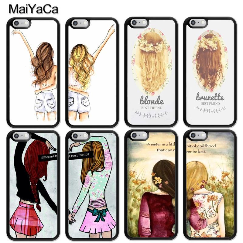 Best Friends - Phone Cases BFF Floral de carcasas para iPhone 6S