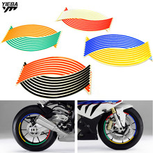 Motorcycle Bike Accessories Wheel Sticker Tape 17 18inch for YAMAHA R125 MT125 XP530 XP500 TMAX500/530 YZFR15 YBR125 YZF R3 R25 стоимость