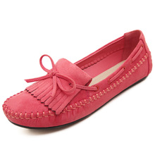 HOT Sales Spring and Autumn Flat Bottom Bow Women Shoes  Fashion Casual High Quality Rubber Soles New Women Flat Shoes