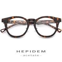 Acetate Optical Glasses Frame Men Women Depp Glasses Transparent Eyeglasses Brand Design 2019 Vintage Round Style Nerd Eyewear