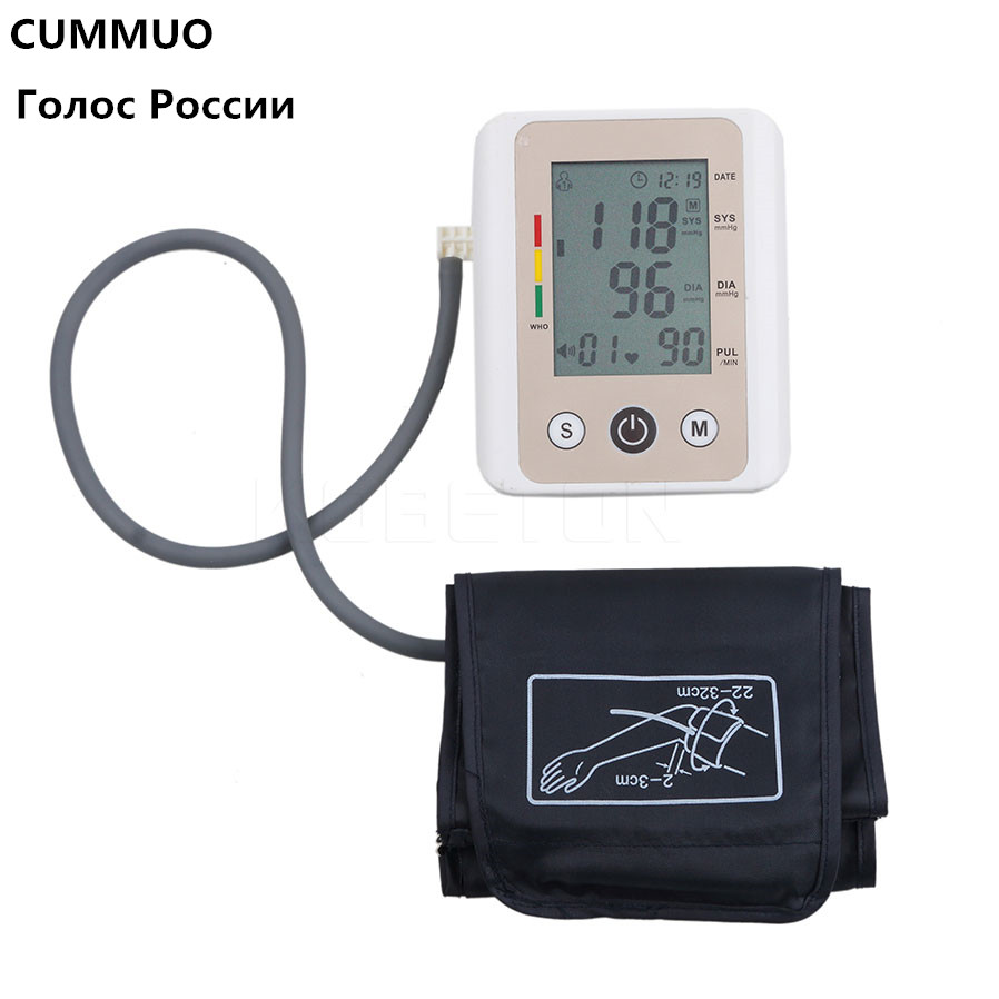 Russian Automatic Digital Arm Blood Pressure Monitor Russia Voice Health Care Meter Tonometer Sphygmomanometer Medical Watch подставки кухонные мультидом подставка