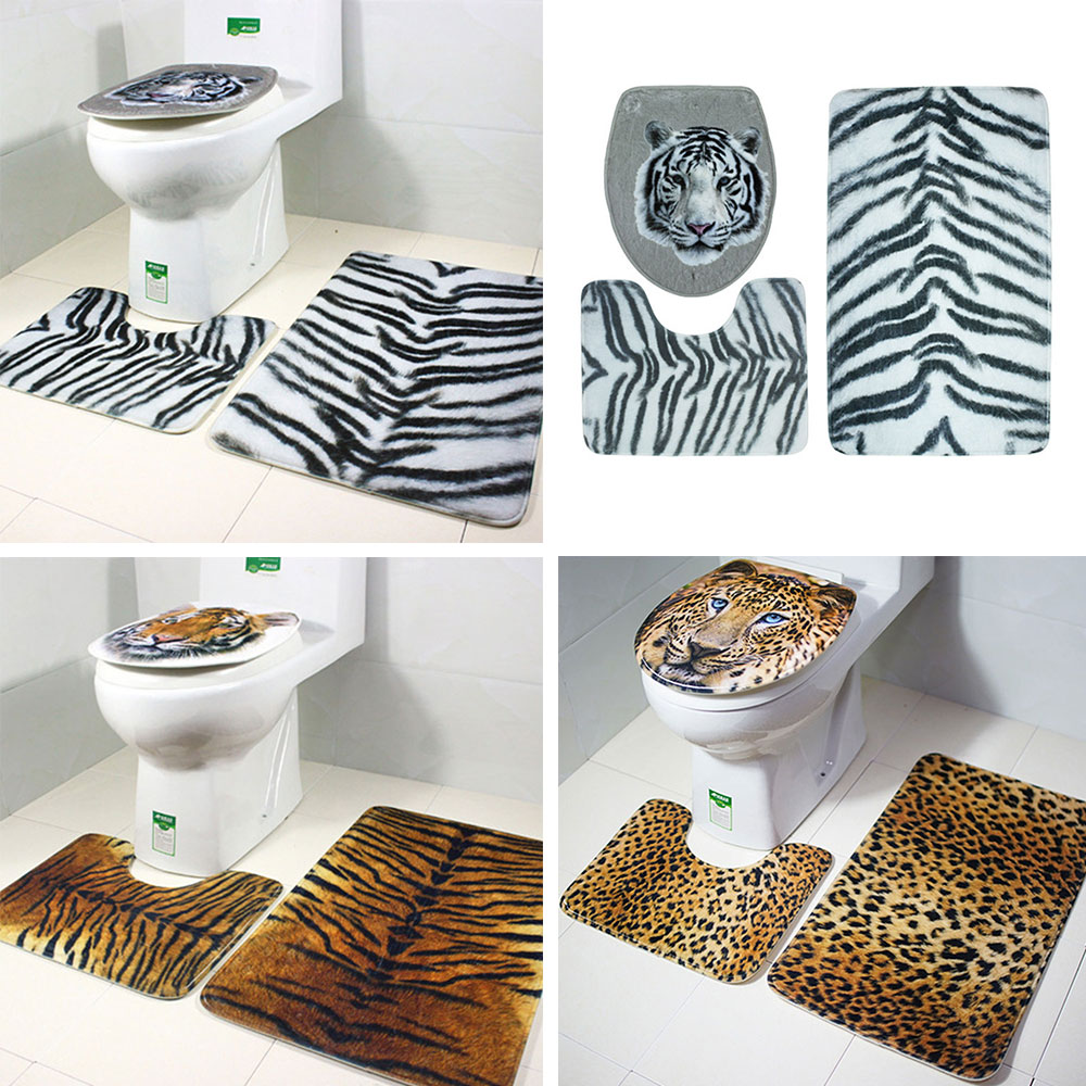 Animal Print 2017 Toilet Rug Home Supplies Carpet NEW Bath Mat Durable Dorpshipping