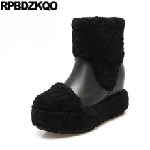 Зимняя женская обувь на плоской подошве обувь без застежки для снежной погоды женские ботильоны черный круглый носок теплый носочки-башмачки Мех китайский женский короткие новые модные 2017
