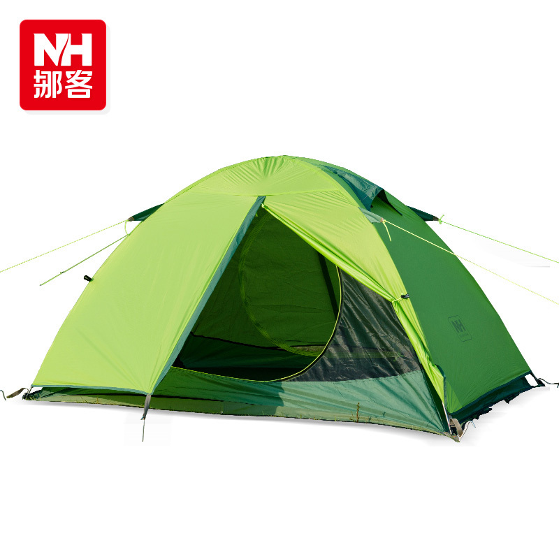 NH ultralight hiking tent outdoor camping tent 2persons double layer against big rain and wind tent 20D silicone tent