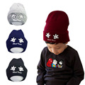 Lovely Baby Girl Boy Knitted Crochet Winter Hats with mickey mouse hand printed beanie