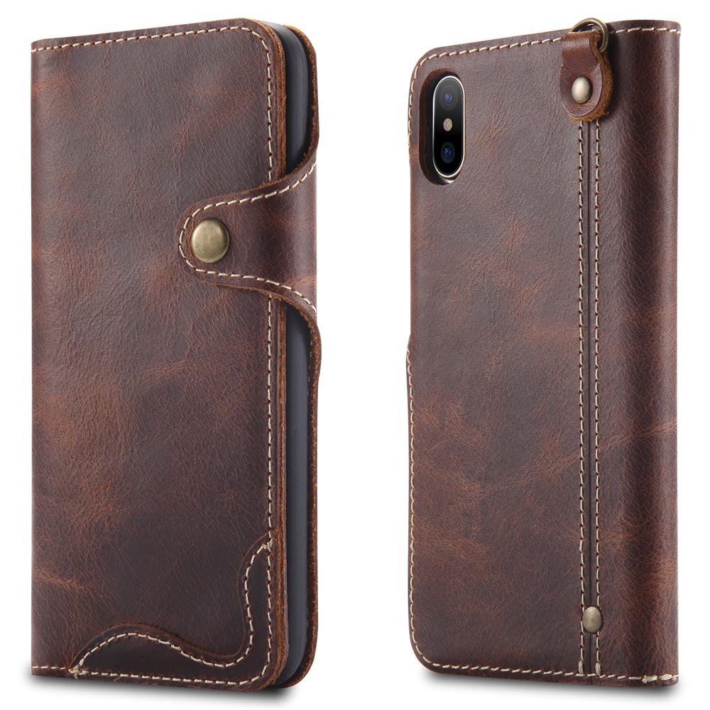 Image 2 - Natural Cowhide Case for iPhone 11 Pro Max XR XS X 8 7 Genuine 