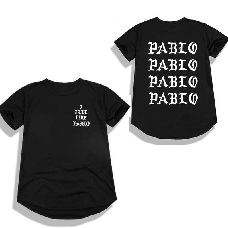 98b38dd9d116 Kanye West Pablo T Shirt Ms I Feel Like Paul Printing Short sleeve Anti  Season 3