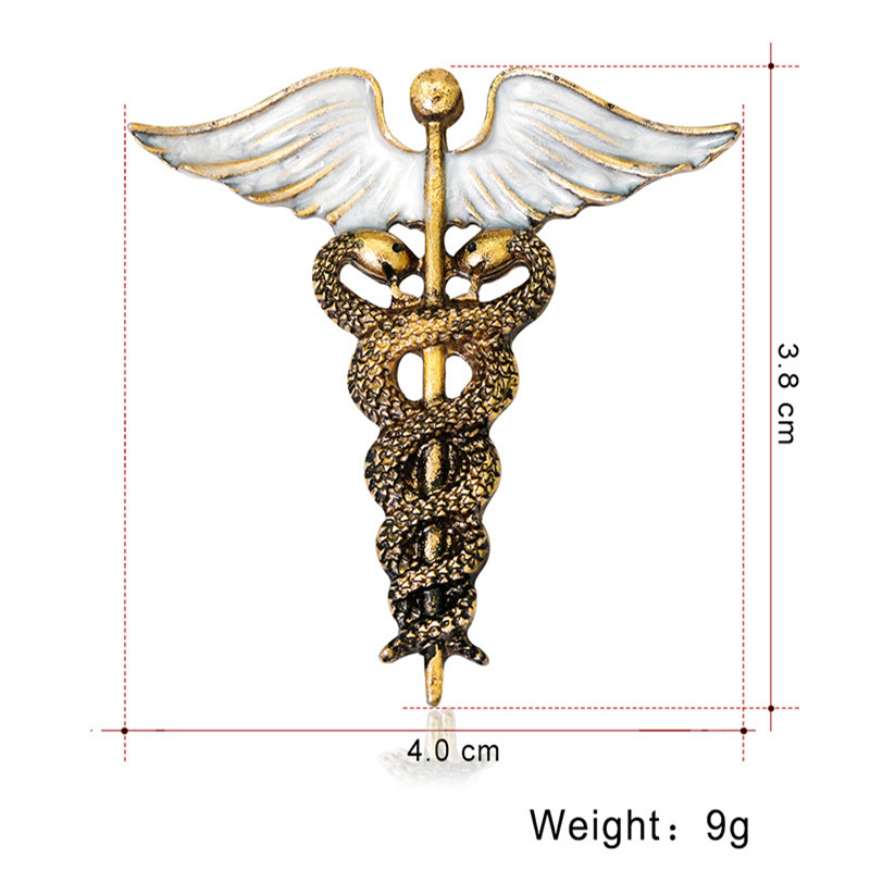 Sitaicery Unique Wing With Snakes Brooches For Women Kids Gift Enamel Alloy Backpack Clothes Decoration Animal Suit Lapel Pins in Brooches from Jewelry Accessories