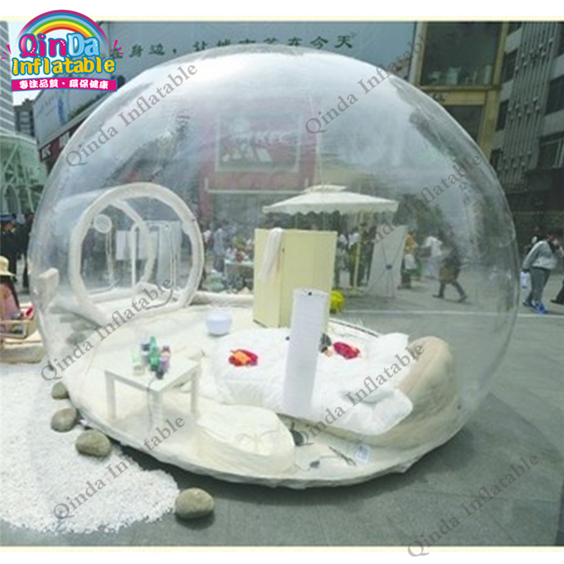 Outdoor single tunnel inflatable bubble tent camping transparent bubble tent pvc bubble inflatable tent transparent camping tent hot large inflatable tent inflatable ball tent