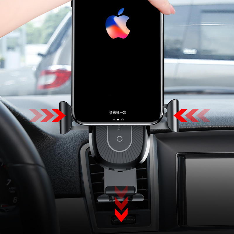 Image 3 - Baseus Gravity Car Holder Quick QI Wireless Charger For iPhone X Samsung S9 Quick Charge Wireless Charging Phone Holder in car-in Phone Holders & Stands from Cellphones & Telecommunications
