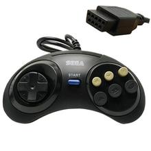 1db / Classic vezetékes 6 gomb SEGA USB Classic Gamepad USB játékvezérlő SEGA Genesis / MD2 Y1301 / PC / MAC Mega meghajtóhoz