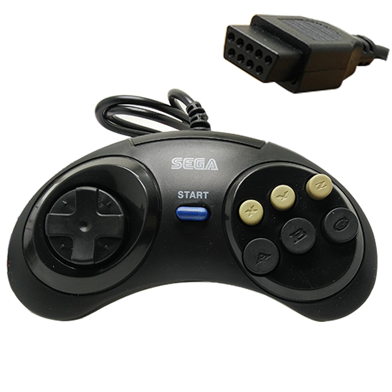 1pcs/Classic Wired 6 Buttons For SEGA USB Classic Gamepad USB Game Controller for SEGA Genesis/MD2 Y1301/PC/MAC Mega Drive
